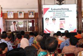 Launching Pelayanan Adminduk Secara Online Telunjuk Sakti Anak Lantip dan Tanda Tangan Elektronik di Pendopo Bupati Wonogiri