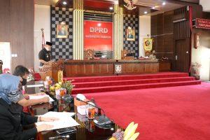 Bupati Wonogiri Sampaikan Nota Pengantar Rancangan KUA dan PPAS TA. 2021 dalam Rapat Paripurna DPRD