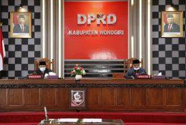 DPRD Wonogiri Umumkan Penetapan Pasangan Cabup dan Cawabup Terpilih Hasil Pilkada Tahun 2020 dalam Rapat Paripurna