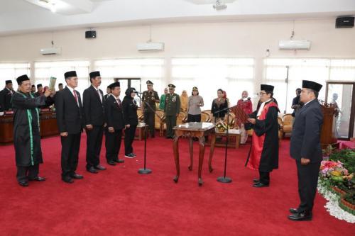 Pelantikan Pimpinan DPRD Kab. Wonogiri Masa Jabatan Tahun 2019-2024