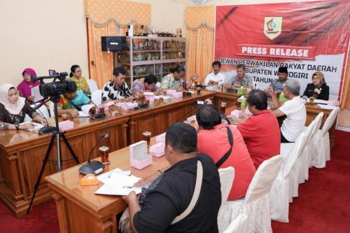 Press Release Kinerja DPRD Kab. Wonogiri